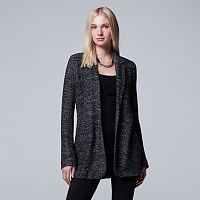 Women's Simply Vera Vera Wang Simply Separates Marled Sweater Blazer