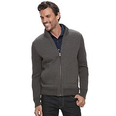 Men's Marc Anthony Slim-Fit Mixed Media Sweater Jacket