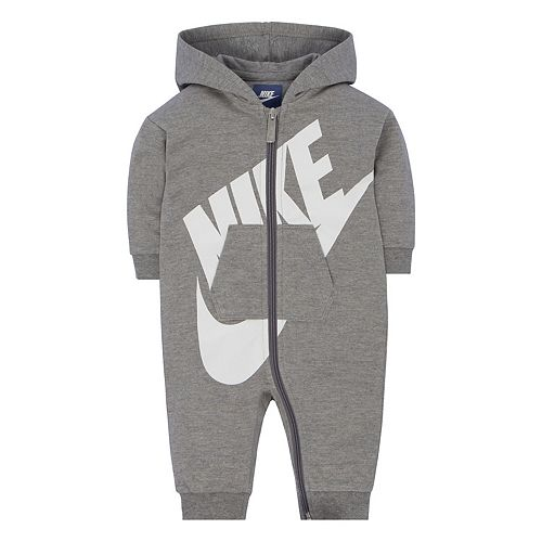 purchase cheap dd766 e9df1 Baby Girl Nike Gray Futura All Day Play Overall