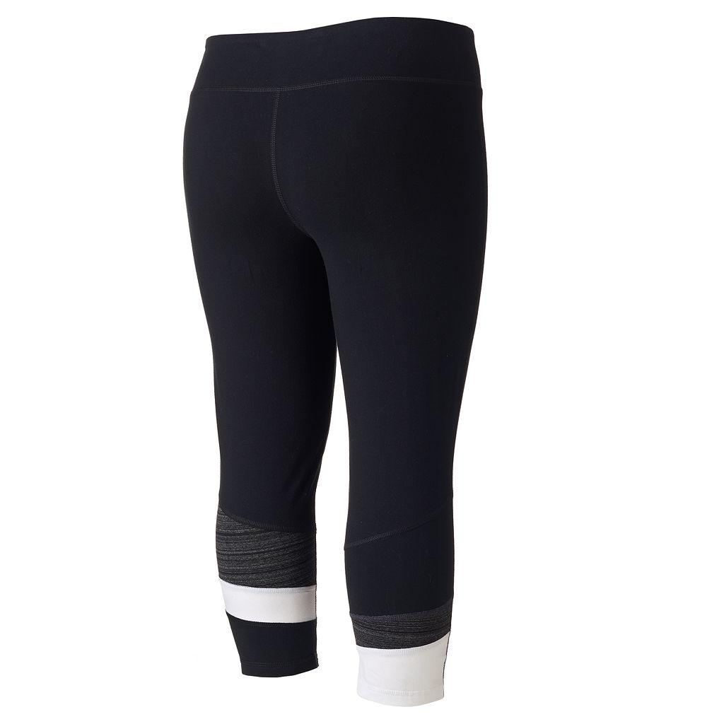 Juniors' Plus Size SO® Pieced Hem Capri Leggings