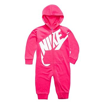 baf90d54b0f5 Baby Girl Nike Pink Futura All Day Play Overall