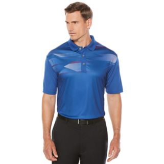 Men's Grand Slam Regular-Fit Hexagon Airflow Stretch Performance Golf Polo