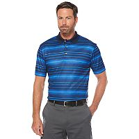 Men's Grand Slam Regular-Fit Striped Stretch Performance Golf Polo
