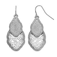 Glittery Quatrefoil Drop Earrings