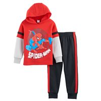 Toddler Boy Marvel Spider-Man Mock-Layer Hoodie & Jogger Pants Set