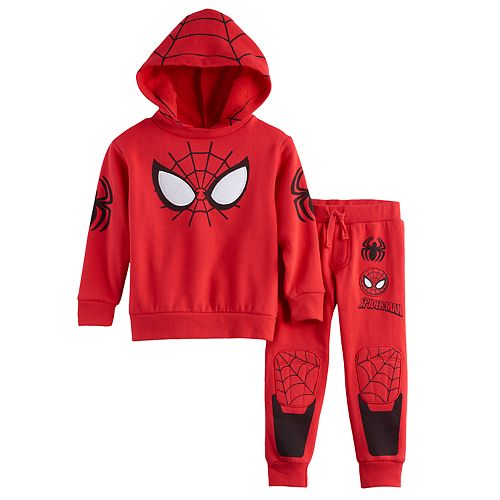 Marvel Boys Toddler Spider-Man 2 Piece Hoodie and Jogger Set