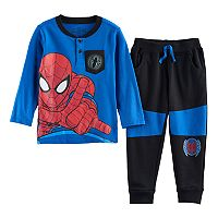 Toddler Boy Marvel Spider-Man Henley & Jogger Pants Set