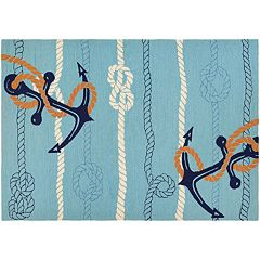 Couristan Outdoor Escape Anchor Bend Tied Rope Indoor Outdoor Rug