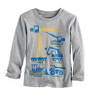 Toddler Boy Jumping Beans® Construction Graphic Long-Sleeve Tee