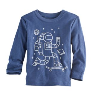 Toddler Boy Jumping Beans® Astronaut Graphic Glow-in-the-Dark Tee