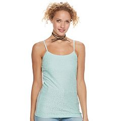 Juniors' SO® Lace Front Cami
