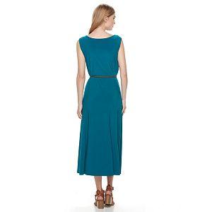 Women's Nina Leonard Scoopneck A-Line Dress