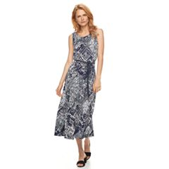 Women's Nina Leonard Scoopneck A-Line Dress