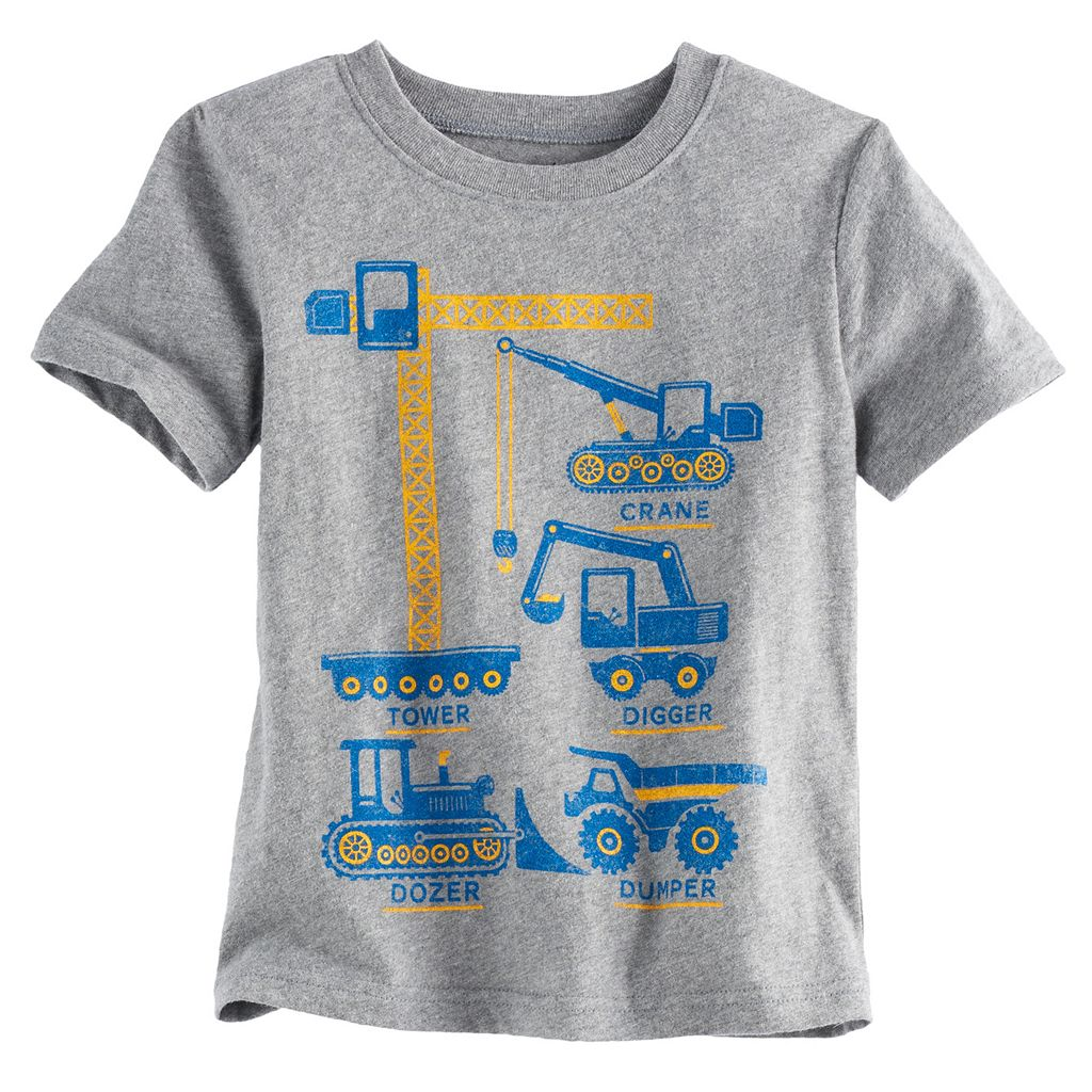 Toddler Boy Jumping Beans® Construction Graphic Short-Sleeve Tee