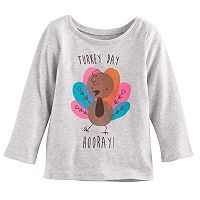 Baby Girl Jumping Beans® Thanksgiving Glittery Graphic Tee