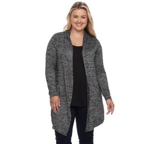 Plus Size Apt. 9® Split-Back Cardigan