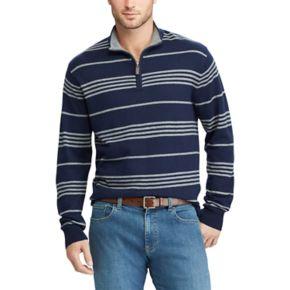 Men's Chaps Classic-Fit Striped Quarter-Zip Sweater