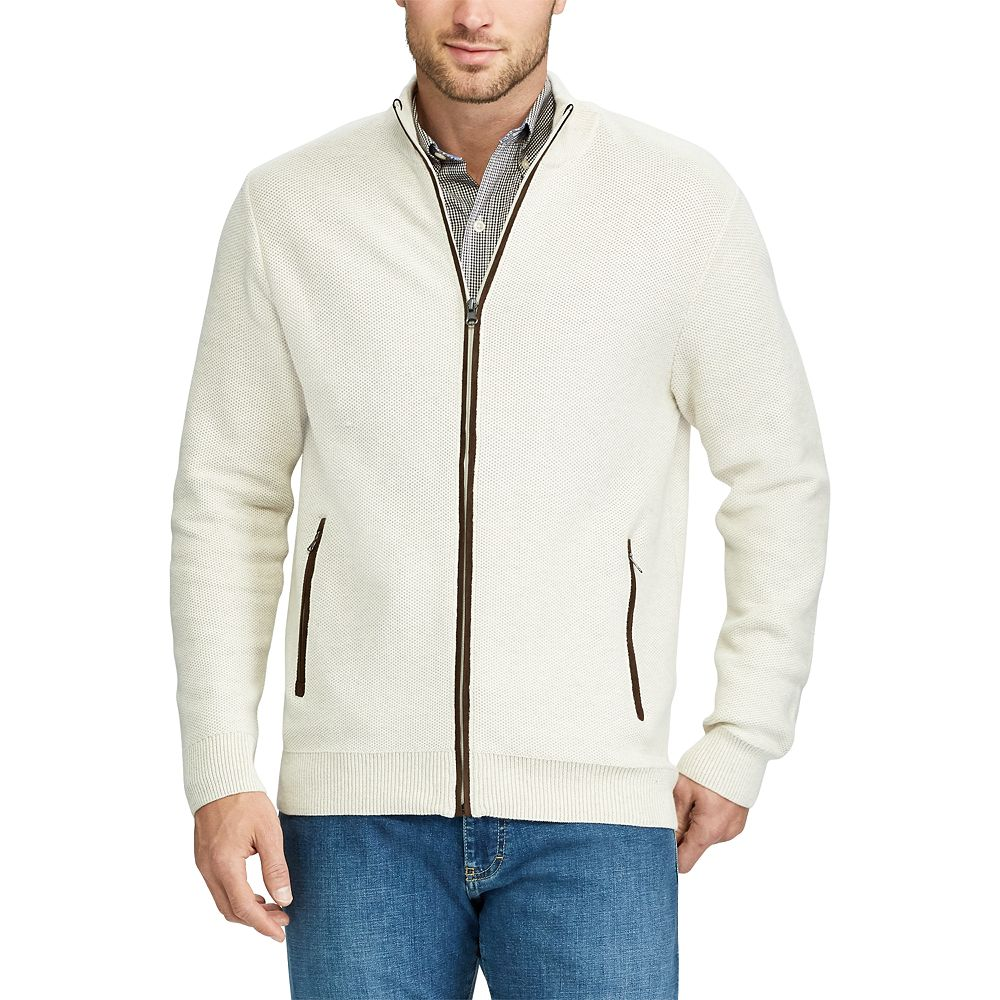 Chaps Classic-Fit Zip-Front Cardigan Sweater