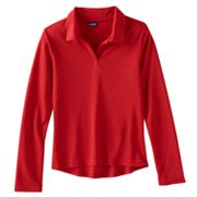 Girls 4-16 & Plus Size Chaps Long Sleeve Performance Polo Shirt