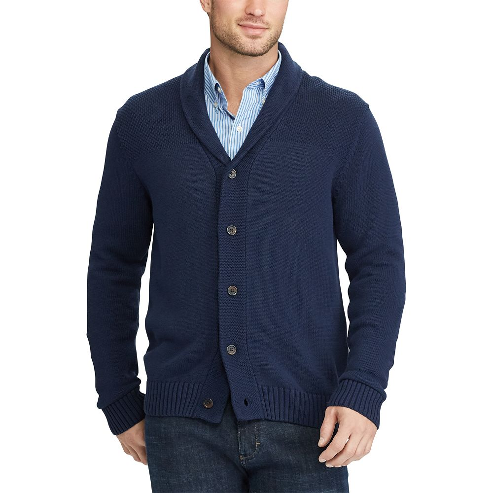 Chaps Classic-Fit Textured Shawl-Collar Cardigan Sweater