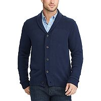 Men's Chaps Classic-Fit Textured Shawl-Collar Cardigan Sweater