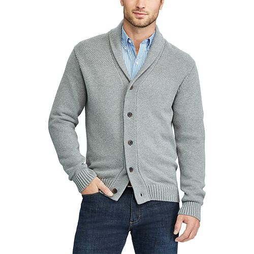 7e23a720f2 Men s Chaps Classic-Fit Textured Shawl-Collar Cardigan Sweater