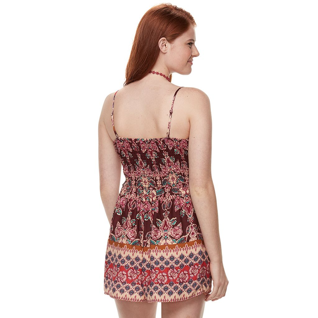 Juniors' About A Girl Molded Cup Romper