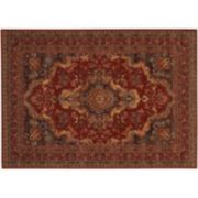 Couristan Old World Classics Kerman Framed Medallion Wool Rug