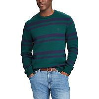Men's Chaps Classic-Fit Striped Crewneck Sweater