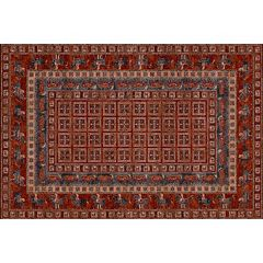 Couristan Old World Classics Pazyrk Framed Floral Wool Rug