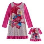 Girls 4-12 DreamWorks Trolls Poppy Nightgown & Doll Gown Set