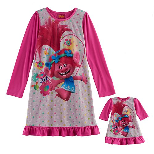 Trolls Baby Girls Granny Nightgown
