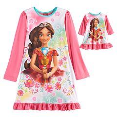 Disney's Elena Avalor Girls 4-8 Nightgown & Doll Gown