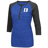 Women's Campus Heritage Duke Blue Devils 3/4-Sleeve Henley Tee