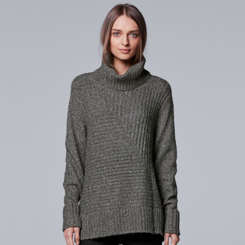 Simply Vera Vera Wang Metallic Turtleneck Sweater