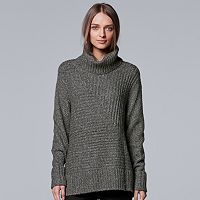 Women's Simply Vera Vera Wang Metallic Turtleneck Sweater