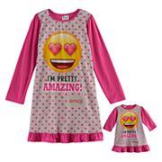 Girls 4-10 Emoji 'I'm Pretty Amazing' Nightgown & Doll Gown Set