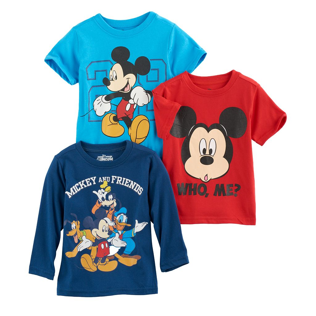 Disney's Mickey Mouse Toddler Boy 3-pc. Mickey & Friends Tee Set