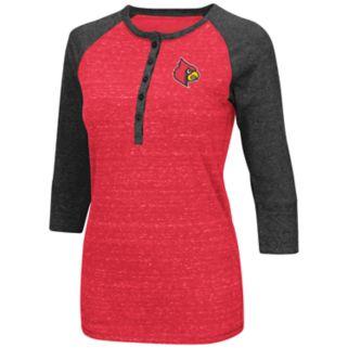 Women's Campus Heritage Louisville Cardinals 3/4-Sleeve Henley Tee