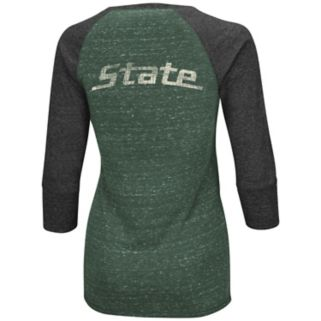 Women's Campus Heritage Michigan State Spartans 3/4-Sleeve Henley Tee