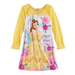 Disney's Beauty and the Beast Belle Girls 4-10 'Smart and Kind at Heart' Nightgown
