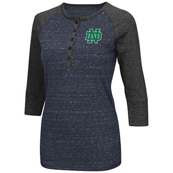 Women's Campus Heritage Notre Dame Fighting Irish 3/4-Sleeve Henley Tee