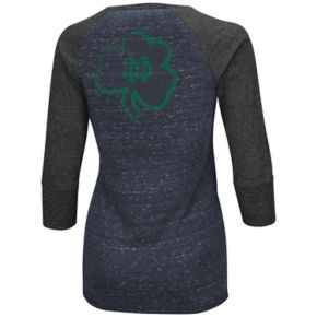 Women's Campus Heritage Notre Dame Fighting Irish 3/4-Sleeve Henley Tee