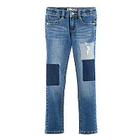 Girls 4-12 SONOMA Goods for Life™ Weathered & Patched Fashion Denim
