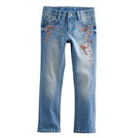 Girls 4-12 SONOMA Goods for Life™ Embroidered Jeans