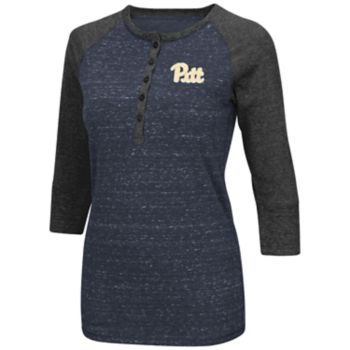 Women's Campus Heritage Pitt Panthers 3/4-Sleeve Henley Tee