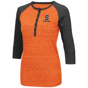 Women's Campus Heritage Syracuse Orange 3/4-Sleeve Henley Tee