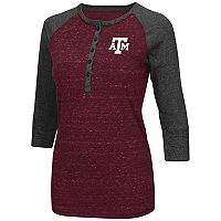 Women's Campus Heritage Texas A&M Aggies 3/4-Sleeve Henley Tee