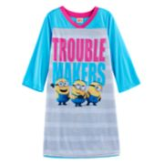 "Girls 4-10 Despicable Me 3 Minions ""Trouble Makers"" Nightgown"
