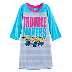 Girls 4-10 Despicable Me 3 Minions 'Trouble Makers' Nightgown